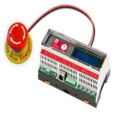 Firefighter Gateway with push button - stop emergency