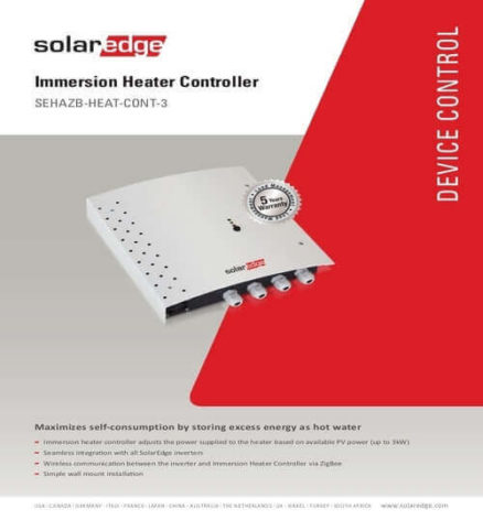 SolarEdge device control - immersion heater controller