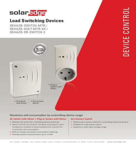 solar edge load switching devices