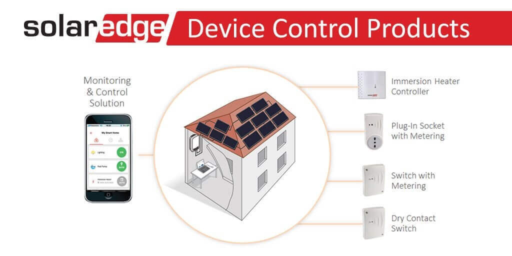 Solaredge device control with mobile app monitoring